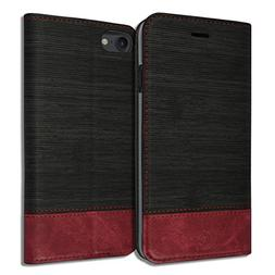 iPhone 8/7   Diary Book Leather ID Credit Card Wallet Standi