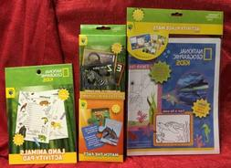 National Geographic Kids Activity Mats, Flash Cards & Travel