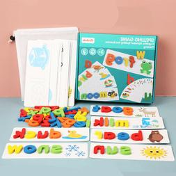 Kids Toys See and Spell Flash Cards Spelling Games Learning