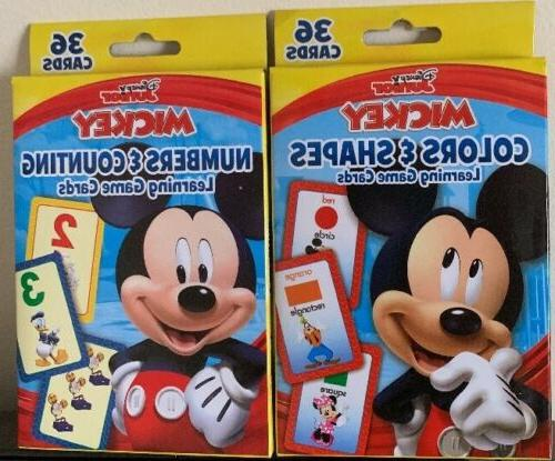2 mickey mouse flash card game color