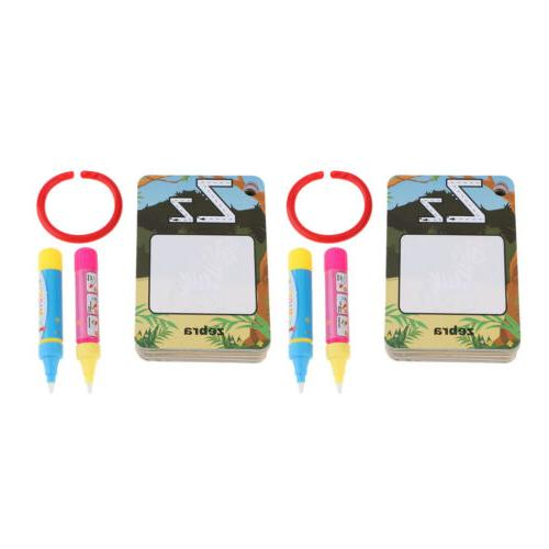 2 Set Water Magic Drawing Alphabet Flash Cards Educational Gift Baby