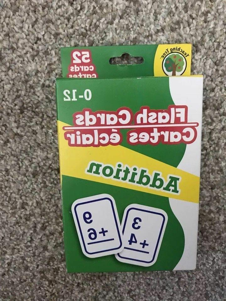 4 Flash Cards Subtraction Division New