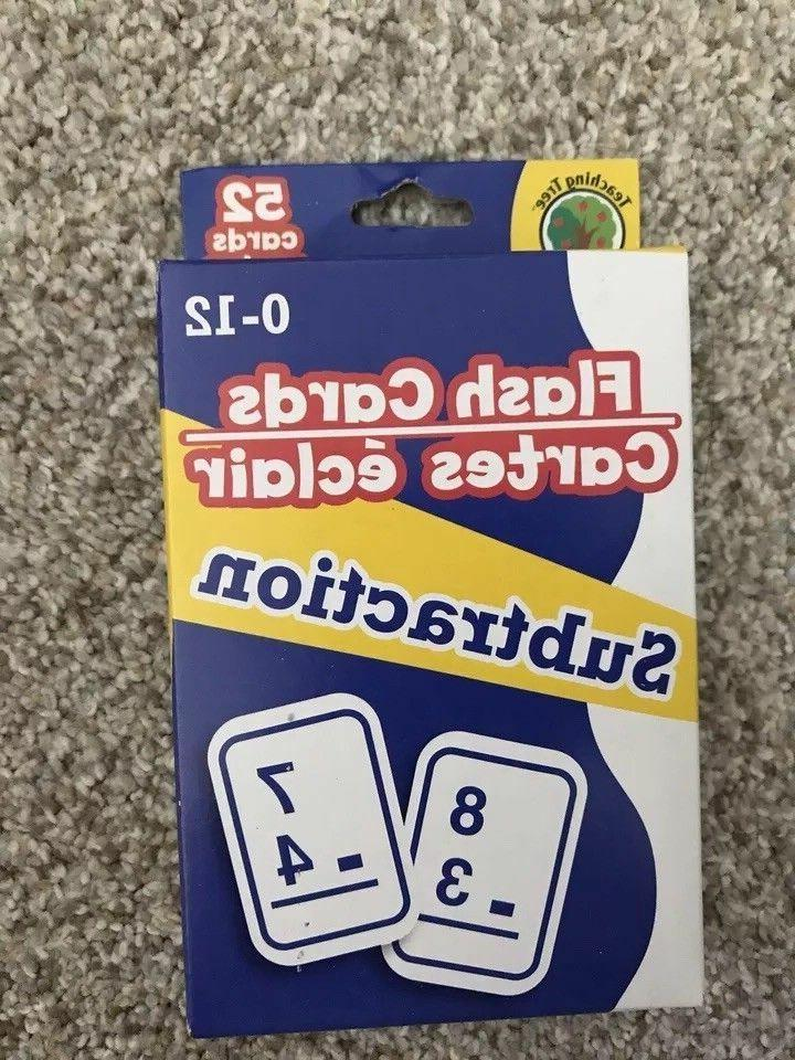 4 Packs Math Flash Cards Subtraction Division -