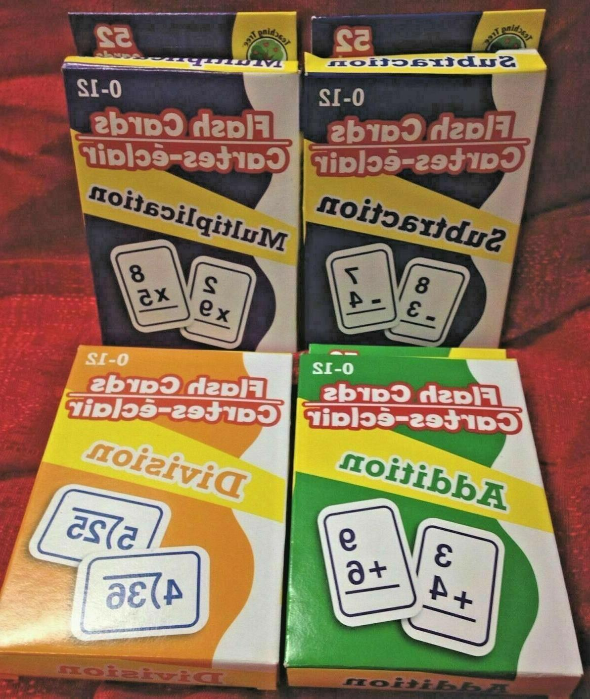 4 packs math flash cards addition subtraction