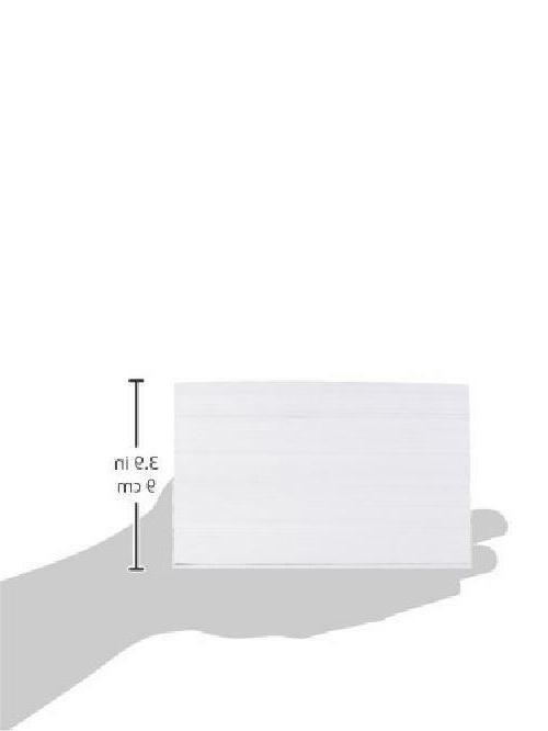 4 6-Inch Ruled White Index 500-Count For Flash Exam Lists