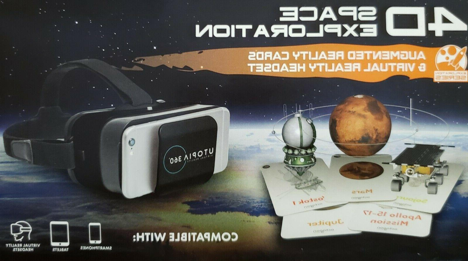4d space exploration augmented reality flashcard utopia