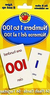 Numbers 1 to 100 Flash Cards: Numeros del 1 al 100