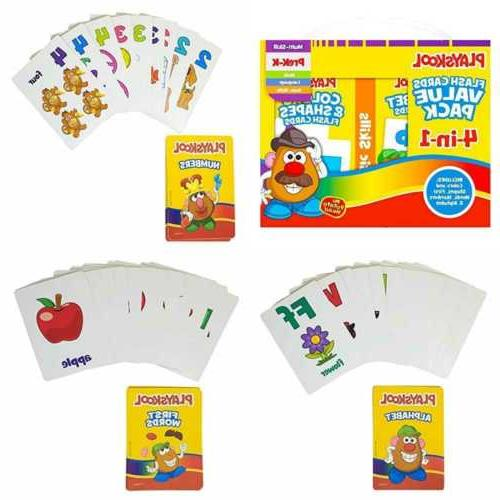 Playskool Flash Cards Value Pack - Alphabet/First Words/Shap