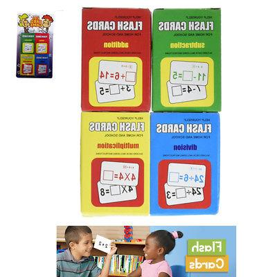 Set 4 Math Flash Cards Addition Subtraction Multiplication D