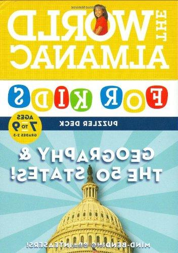 The World Almanac for Kids Puzzler Deck: Geography & the 50