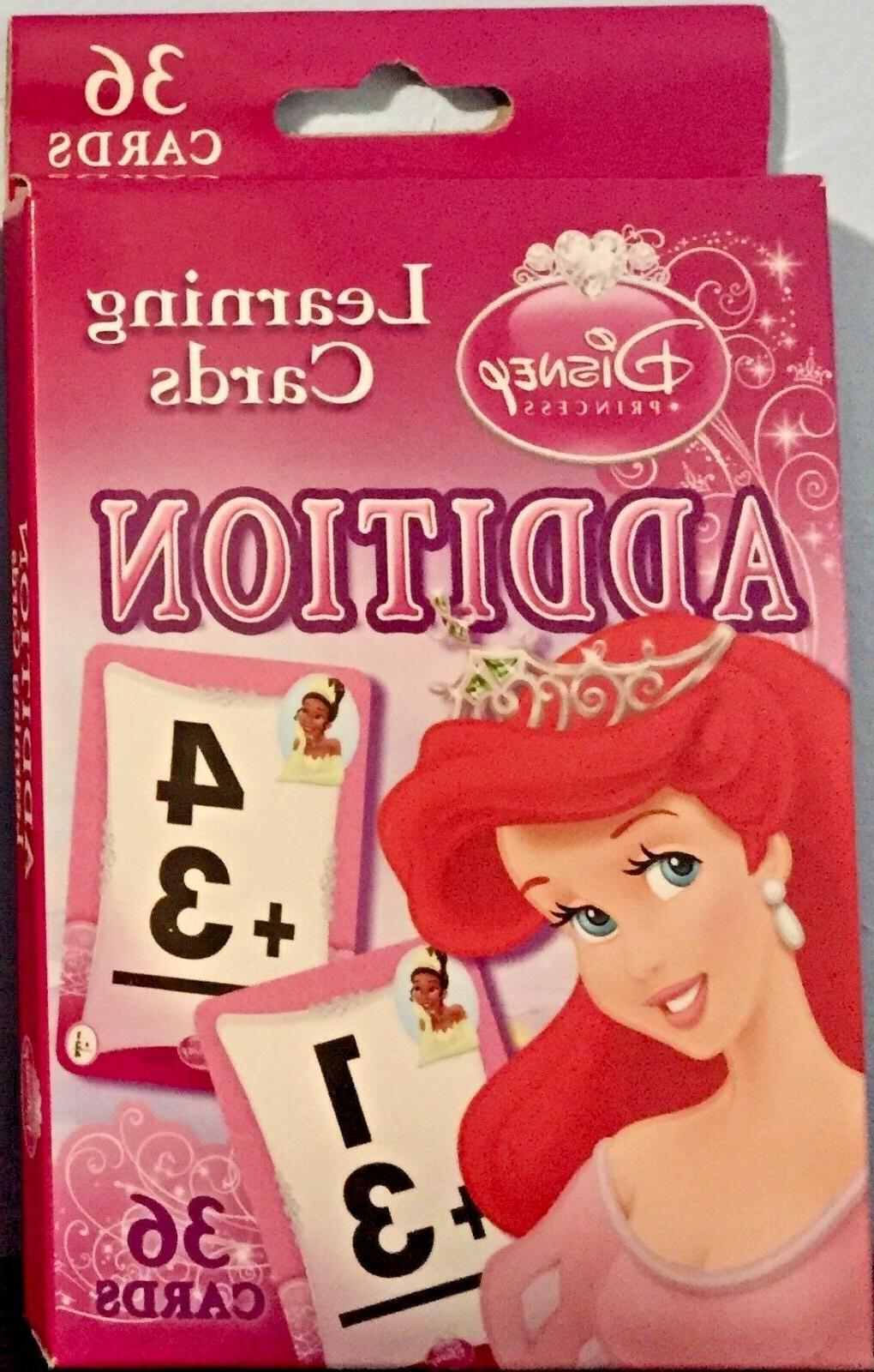 addition princess learning flash cards brand new