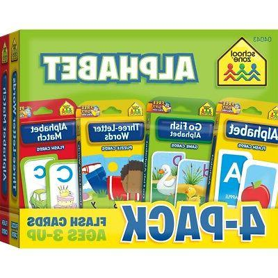 Alphabet Flash Card 4-Pack by
