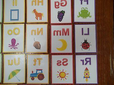 Alphabet Cards. 26 colored Preschool learn