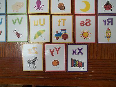 Alphabet Flash Cards. colored cards total. Preschool learn