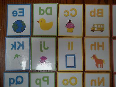 Alphabet Cards. colored total. Preschool learn the