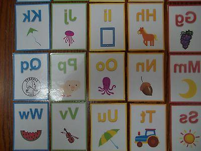 Alphabet Flash colored cards total. learn the ABC's. Dayc