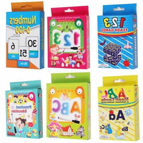 Color Alphabet Shape Flash Cards Baby Child Early Learning L