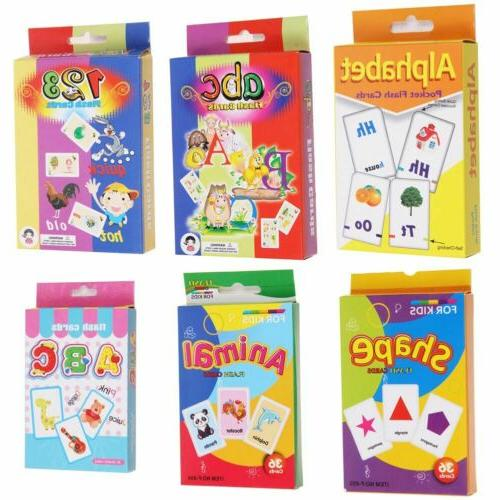 Flash Cards For Kids Toddlers Educational Early Learning Pre