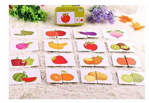 Baby Infant Card Jigsaw Matching Puzzle Cognitive Learning Early Education Toys