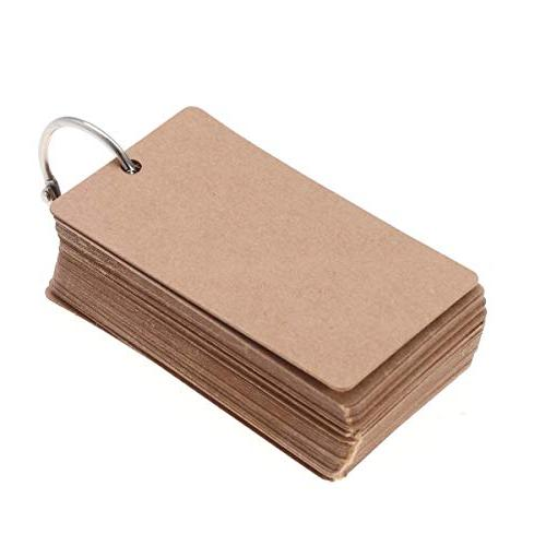 STOBOK Data Card Flash Card Index Cards Study Supplies with Binder Ring