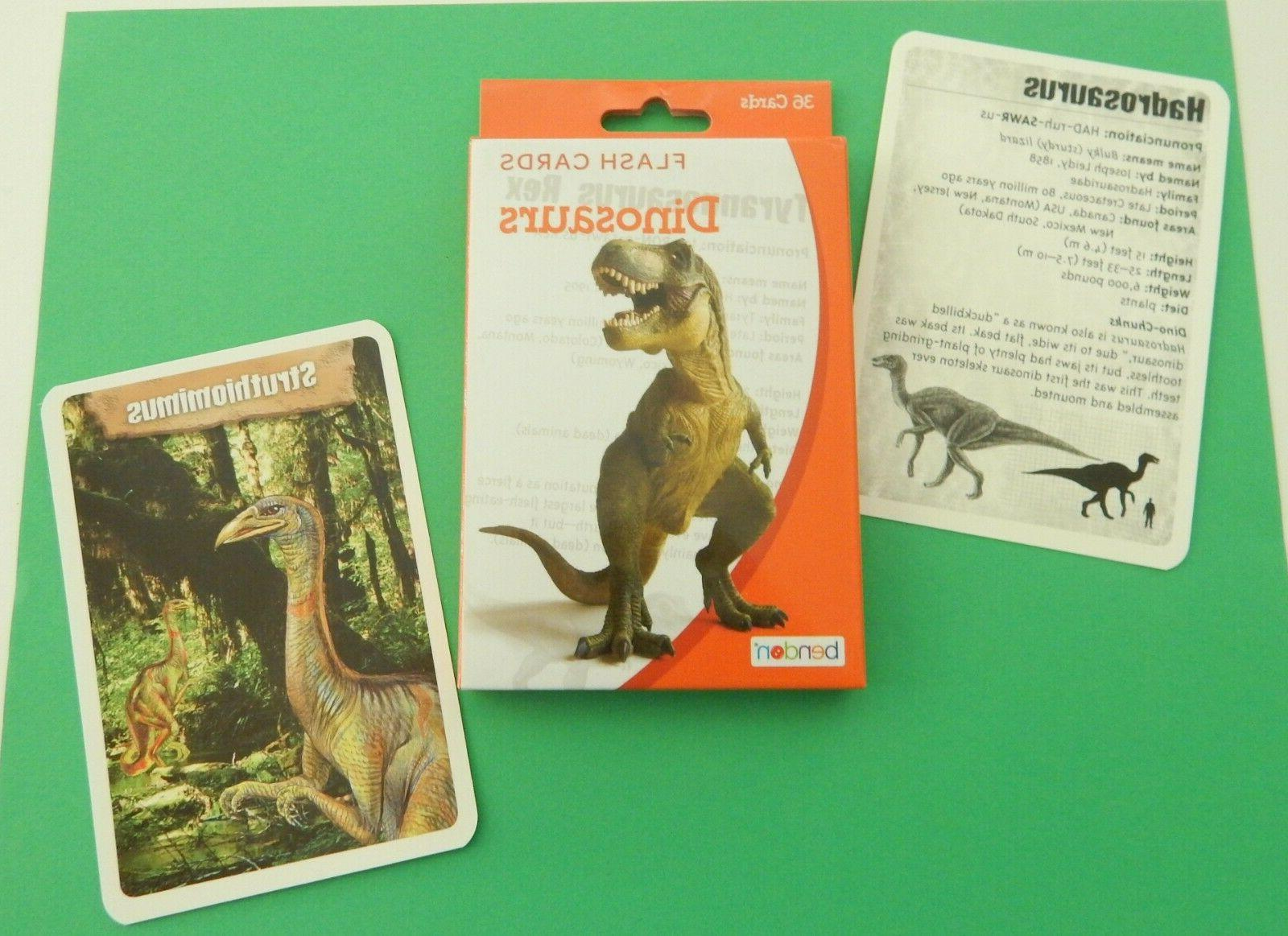 Dinosaur Cards Learning Pronunciation Stats Science Places