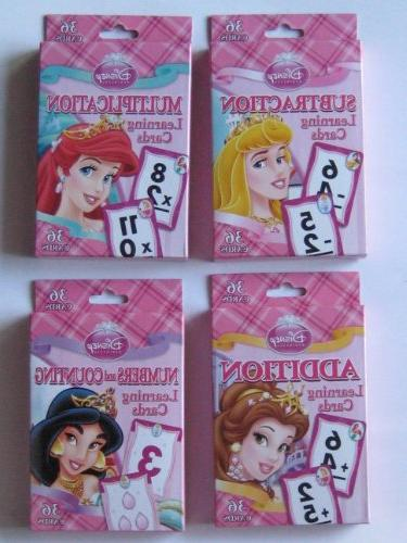 princess counting learning game cards