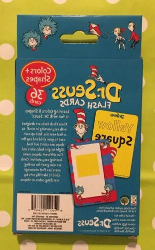 Dr Seuss Flash Cards-Colors & Shapes, Cat The Cards-Brand New
