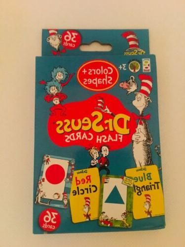 Dr Seuss Flash Cards-Colors The Hat, 36 Cards-Brand New
