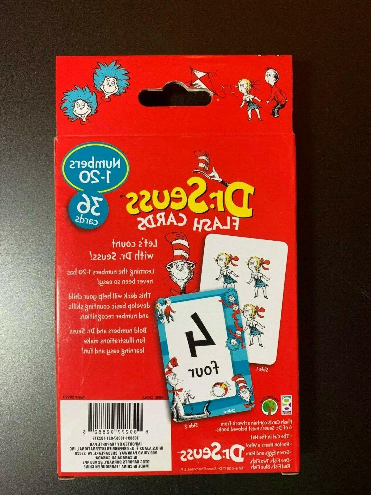 DR.SEUSS CARDS NUMBERS 1-20, COLORS FUN LEARNING!