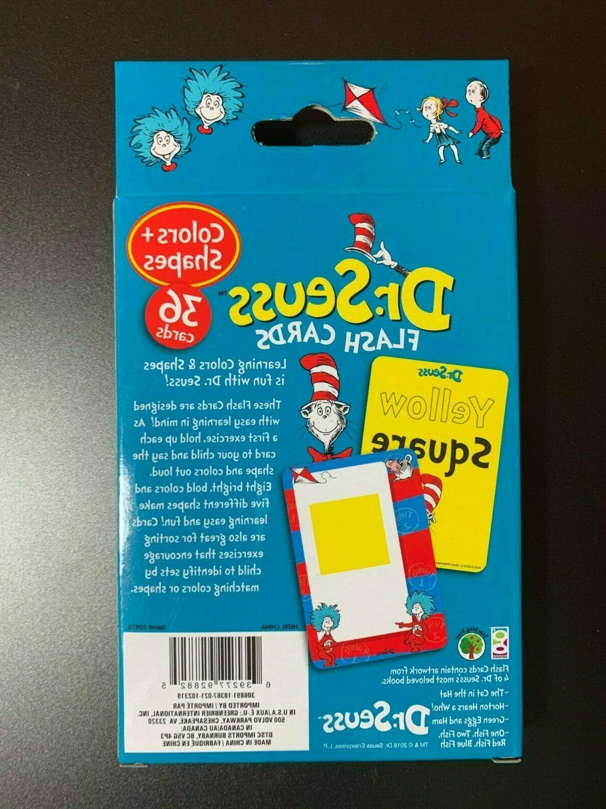 DR.SEUSS FLASH CARDS NUMBERS 1-20, ABC'S COLORS FUN LEARNING!