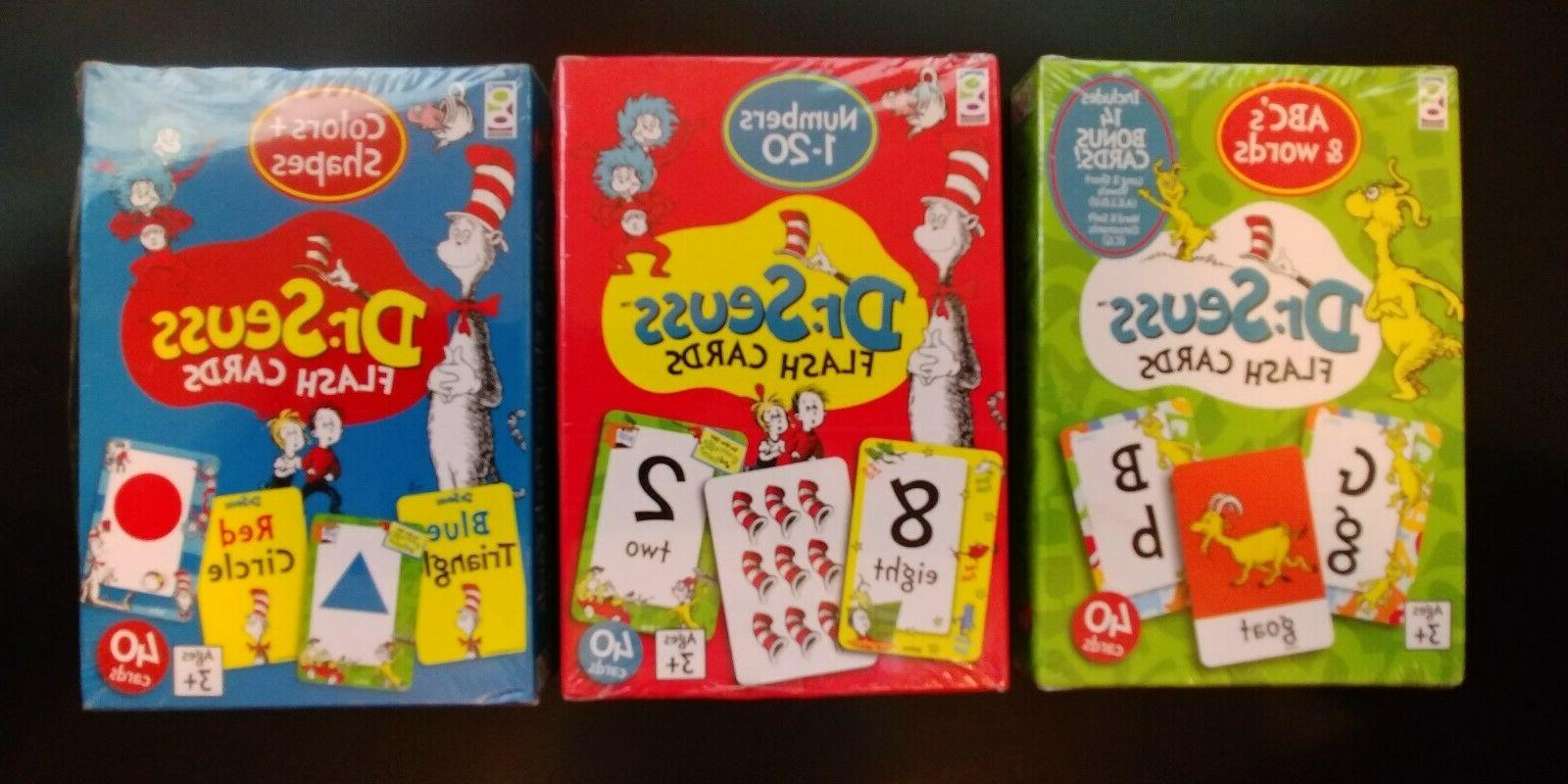 dr seuss flash cards numbers shapes