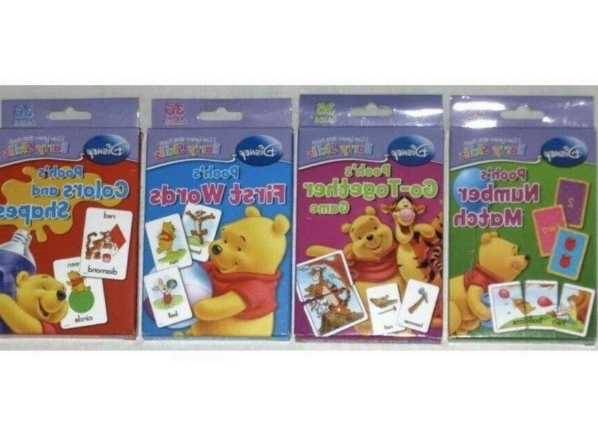 early skills flash cards winnie the pooh