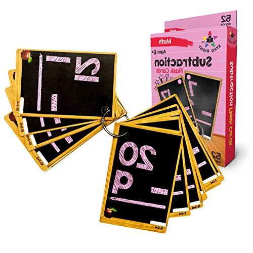 education subtraction flash cards