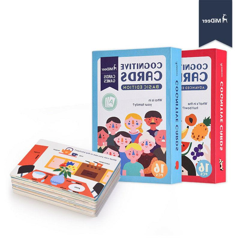 educational flash cards book board game baby