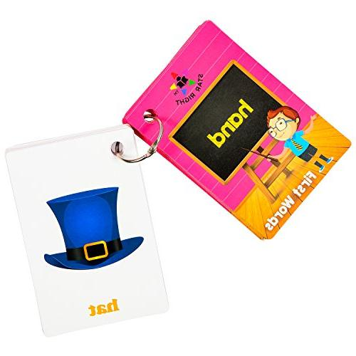 Star First Words Flash Cards with Art, 1 Ring, Pre-K