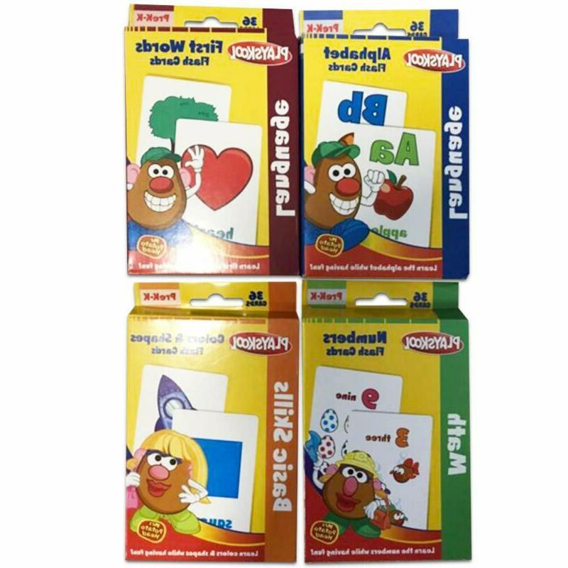 Playskool Flash Cards  - 4 Sets Of Flash Cards (Alphabet, Nu