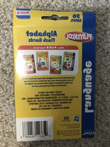 Playskool Cards Alphabet/First Words/Shapes & Colors/Numbers Set of 4