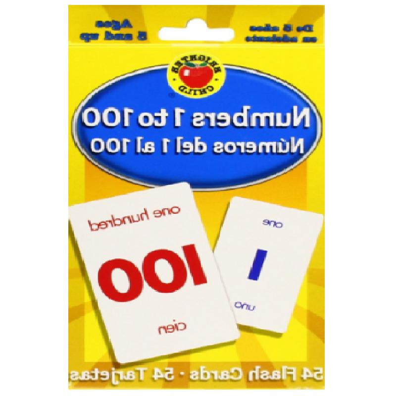Flash Cards Numbers 1 to 100 Educational Numbers In English