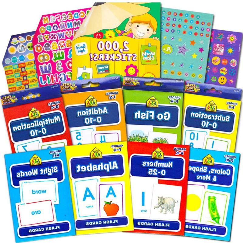 Flash Cards School Zone Super Set For Toddlers/Kids -- 8 Pac