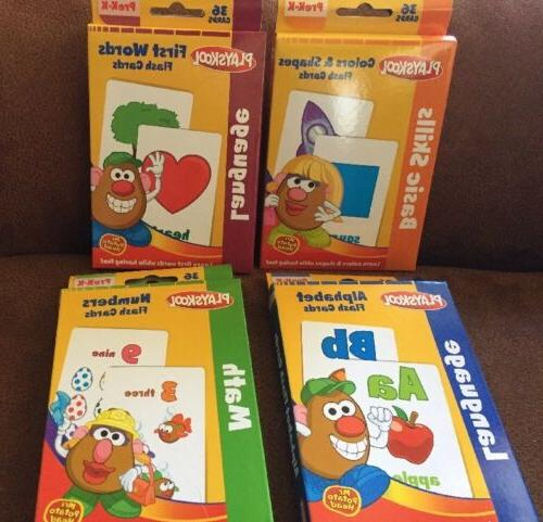 flash cards set of 4 alphabet first