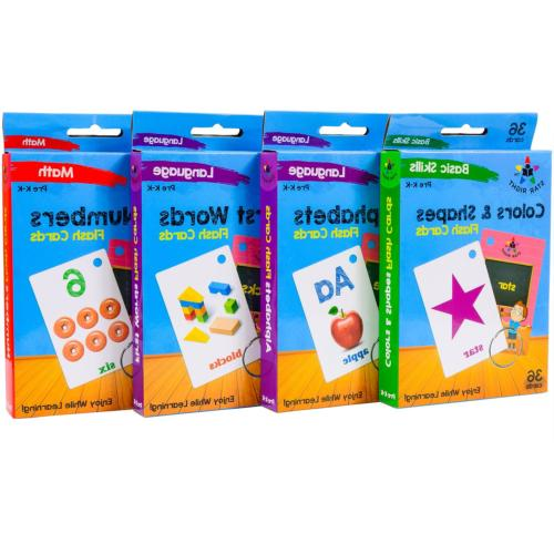 Star Right Flash Cards Set of 4 Numbers, First Words, Colors & K
