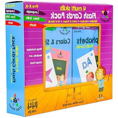 Star Right Flash Set of 4 - Numbers, Words, Colors &