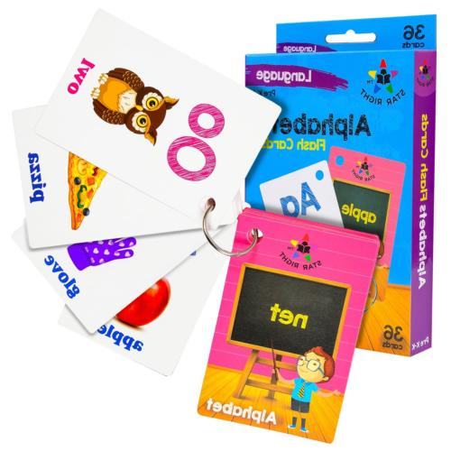 Star Right Flash Cards Set 4 - Numbers, Alphabets, First Colors -