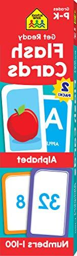 School Zone - Get Ready Flash Cards Alphabet & Numbers 2-Pac