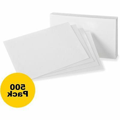 "Oxford Index Cards Blank 3""x5"" 500/BD White 30BD"