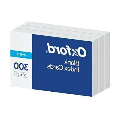 """Oxford Blank Index Cards, 5"""" x 8"""", White, 300 pack"""