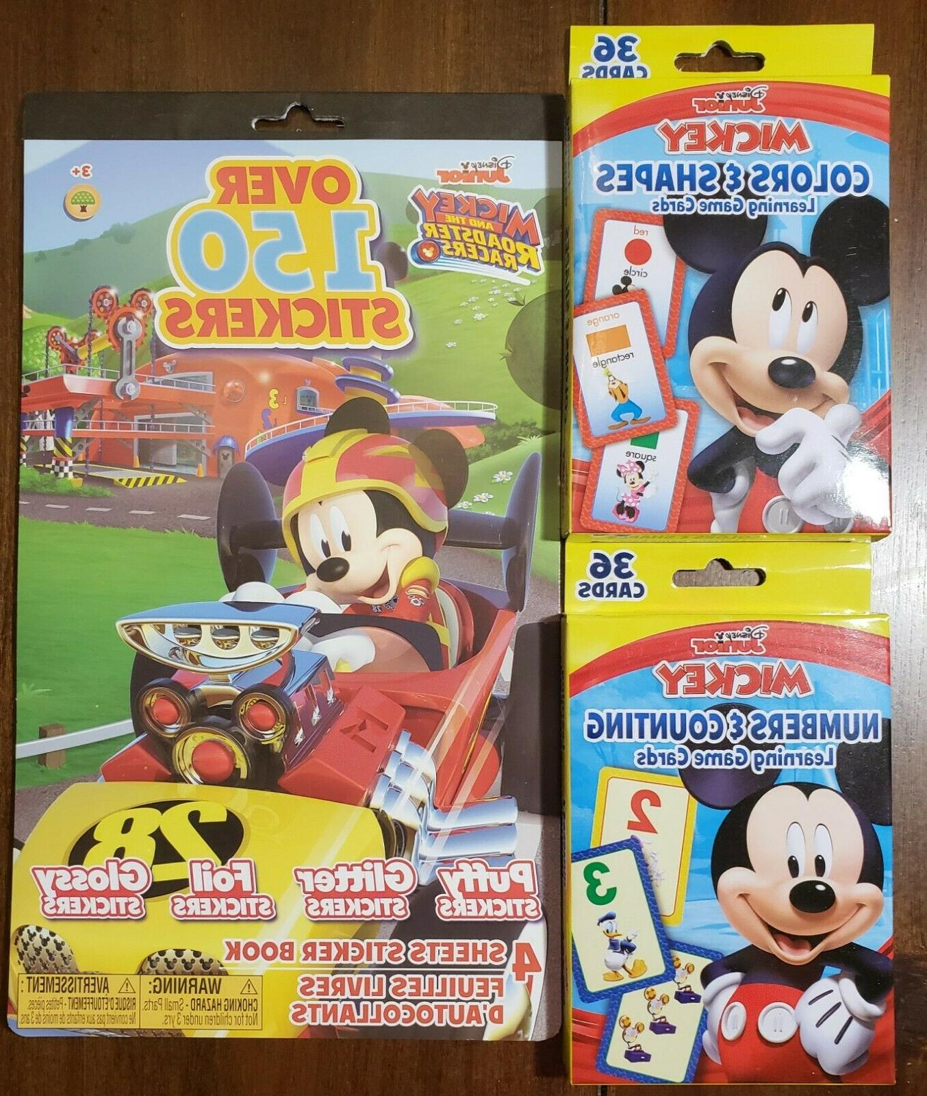 junior mickey mouse flash cards with bonus