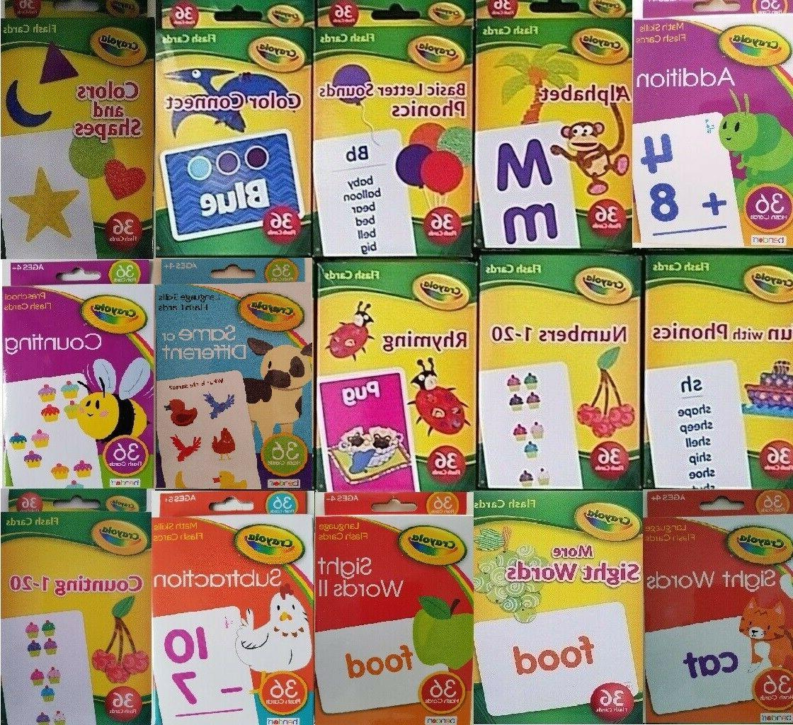 learning flash cards age 3 36 cards