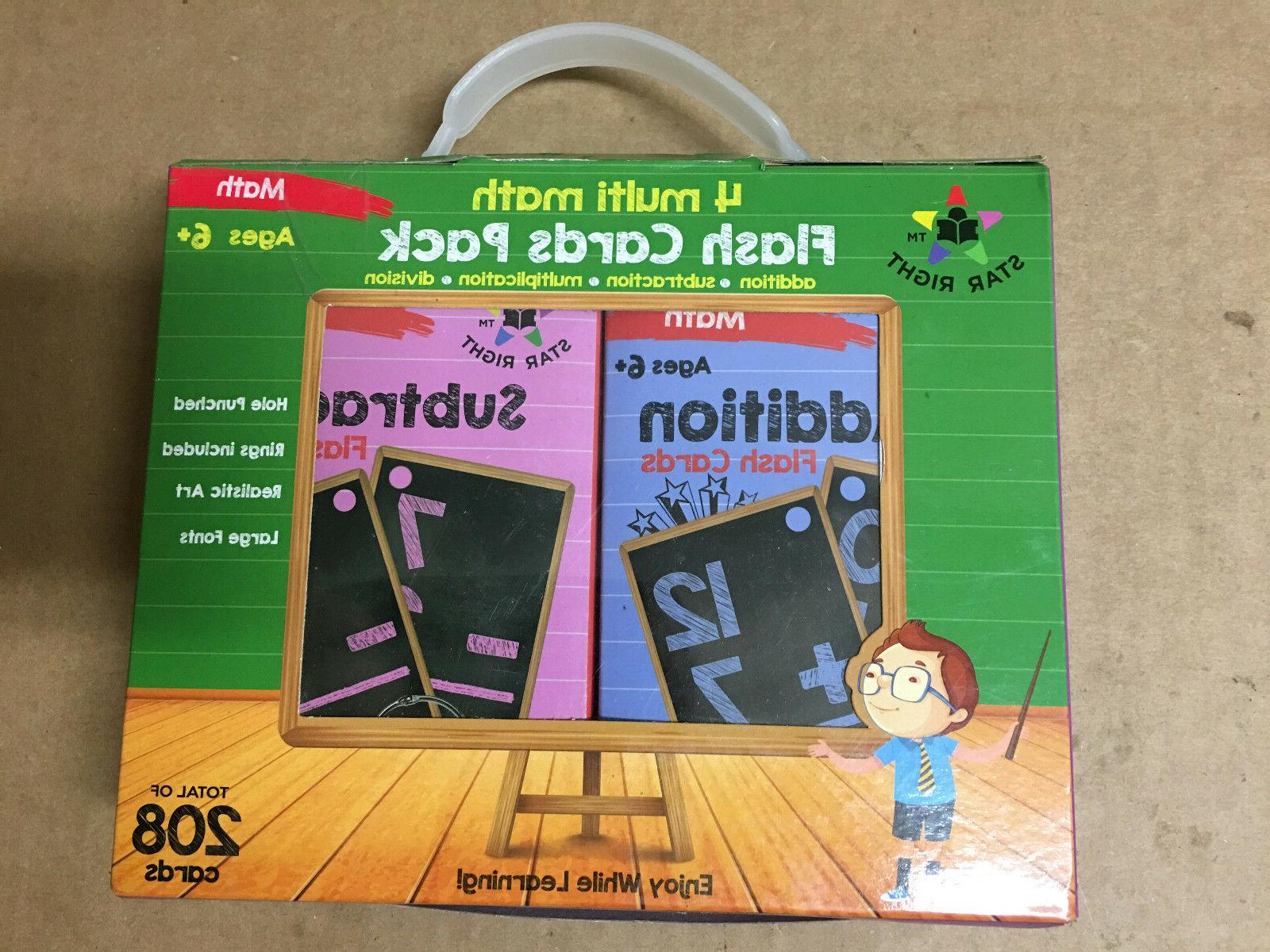 multi math flashcards pack addition subtraction
