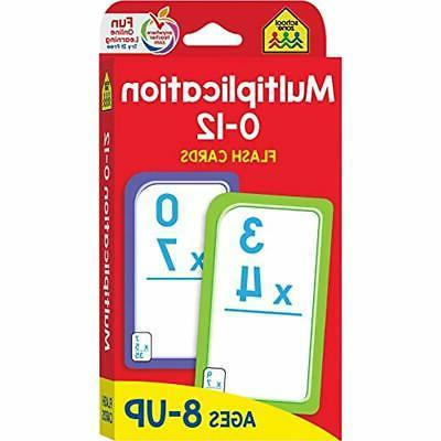 multiplication 0 12 flash cards ages 8
